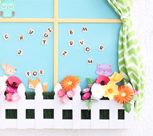 Paper flower window box